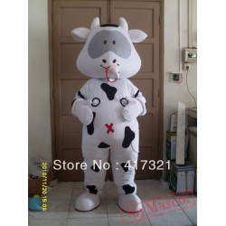 Adult Cow Mascot Costume Cattle Cow Costume