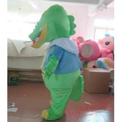 Green Dino Dinosaur Mascot Costume For Adult