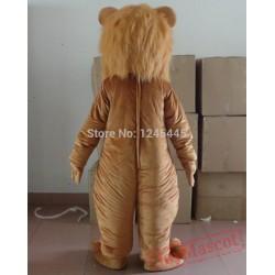 Long Plush Lion Mascot Costume For Adult