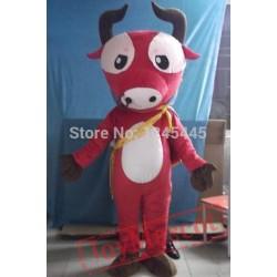 Adult Yak Costume Red Yak Mascot Yak Mascot Costume