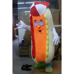 Adult Hot Dog Mascot Costume Hotdog Sausage Mascot Costume
