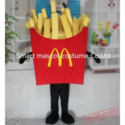 Vivid Food Mascot Costume French Fries Costume For Adults