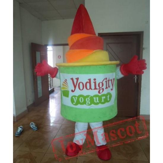 Frozen Yogurt Cup Mascot Costume For Adult