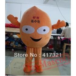 Adult Happy Orange Peanut Mascot Costume