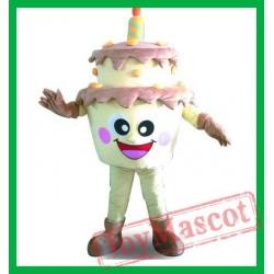 Adult Birthday Cake Mascot Costume