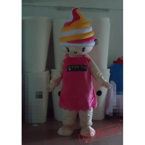 Adult Mascot Costume Ice Cream