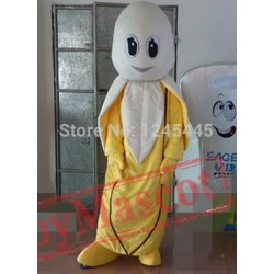 Good Version Yellow Clothes Banana Mascot Costume For Adult