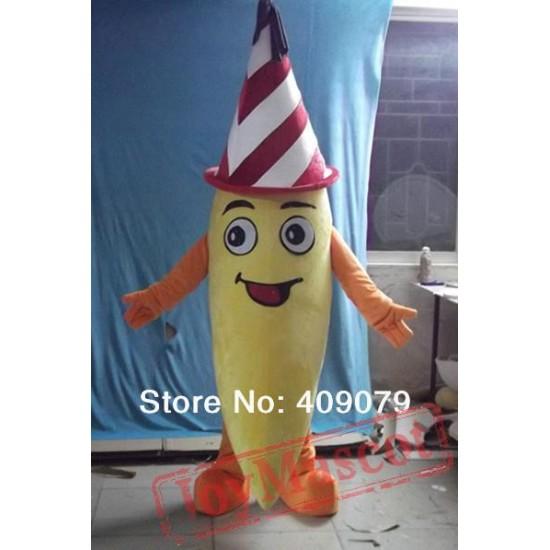 Adult Banana Mascot Costume
