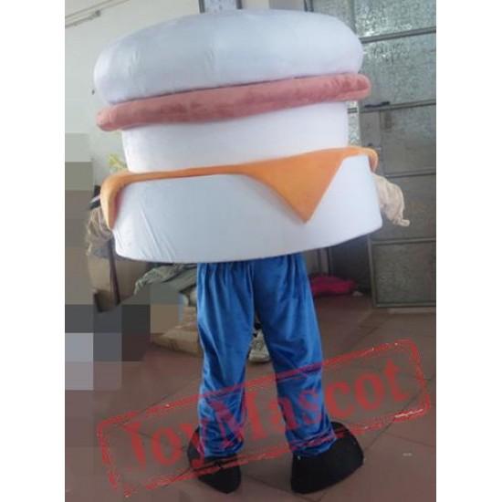 Adult Hamburger Mascot Costume