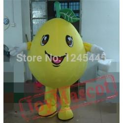 Adult Yellow Pear Mascot Costume