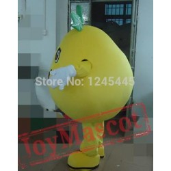 Adult Yellow Pear Mascot Costume