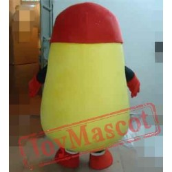 Grinning Potato In The Red Hat Mascot Costume Potato Costume For Adults