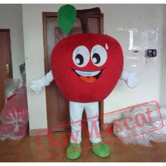 Adult Red Apple Mascot Costume Fruit Mascot Costumes