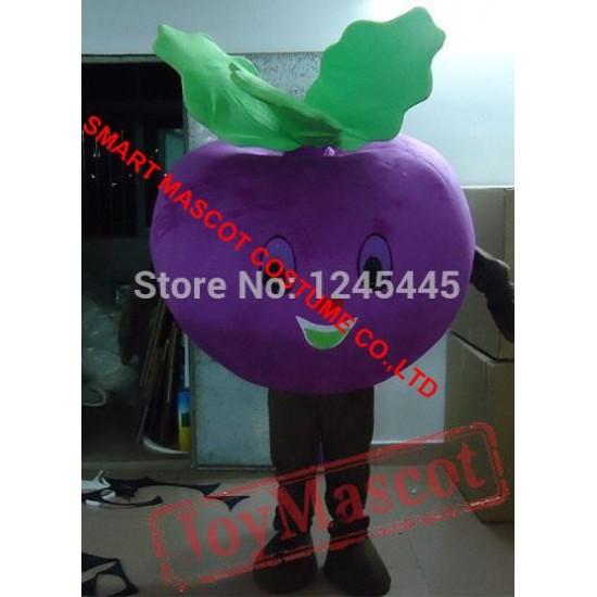 Purple Carrot Mascot Costume For Adults Carrot Mascot Costume
