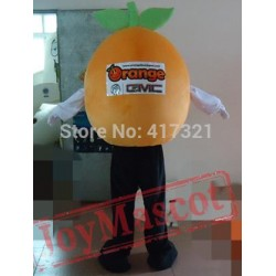 Orange With A Big Smile Mascot Costume Adult Orange Mascot
