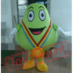 Cyan Pear Mascot Costume For Adults Pear Mascot