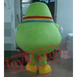 Cyan Pear Mascot Costume For Adults Pear Mascot
