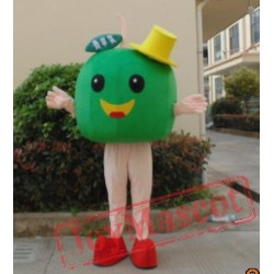 Big Green /Red Apple Mascot Costume Adult Apple Costume