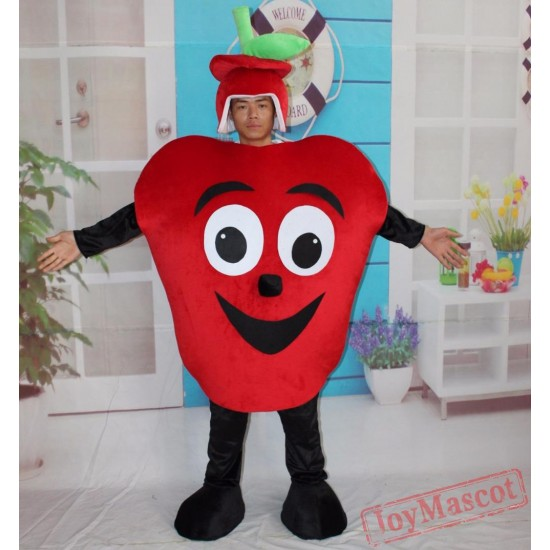 Adult Fruit Mascot Costumes Red Apple Fancy Costume