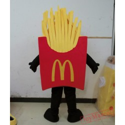 French Fries Mascot Costume Adult French Fries Costume