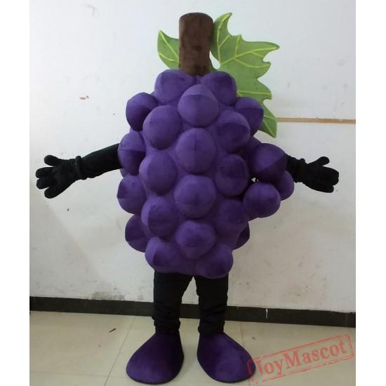 Purple Grape Mascot Costume Adult Grape Costume