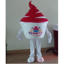 Custom-Made Red Ice Cream Mascot Costume For Adults Adult Yogurt Costume Ice Cream Costume