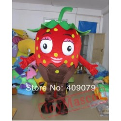 Adult Strawberry Chocolate Mascot Costume Strawberry Mascot
