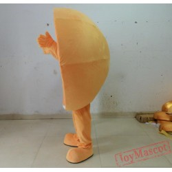 Orange Mascot Costume Adult Orange