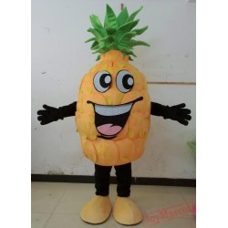 Happy Pineapple Mascot Costume Plush Pineapple Costume For Adult