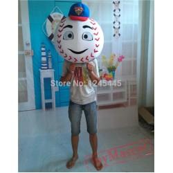 Adult Head Of Mr Met Mascot Costume Mr Met Head Mascot