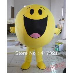 Adult Big Yellow Soya Bean Mascot Costume