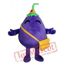 Adult Eggplant Mascot Costume