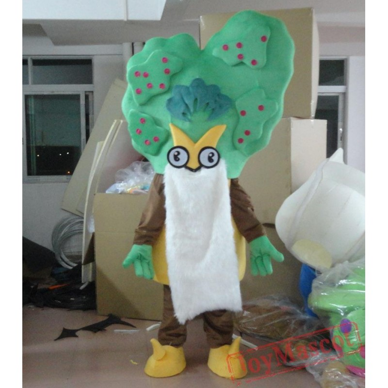 Grandfather Tree With A Long White Bread Mascot Costume Tree Mascot For Adults & Grandfather Tree With A Long White Bread Mascot Costume Tree Mascot ...