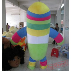 Colorful Bean Mascot Costume Adult Bean Mascot