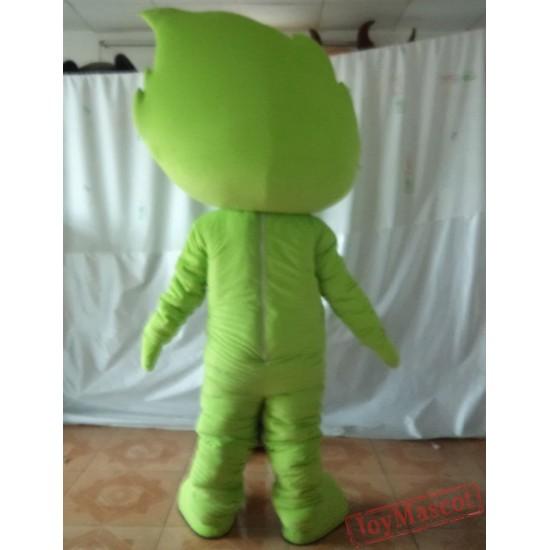 Green Mascot Costume Leaf Mascot Costume For Adults