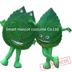 Leaf Spring Mascot Costume Leaf Costumes For Adults
