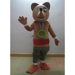 Adult Brown Fox Cartoon Mascot Costume