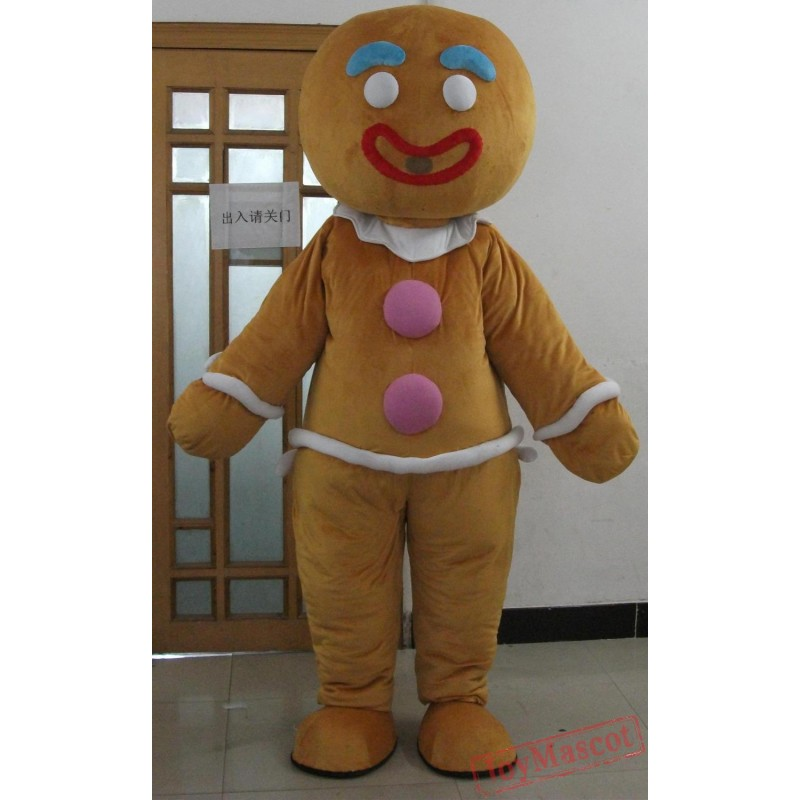 sc 1 st  Mascot & Adult Christmas Gingerbread Man Costume Mascot