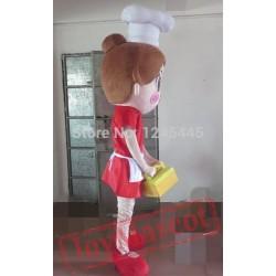 Adult Female Cook Mascot Costume