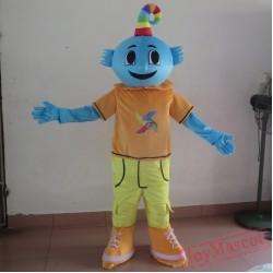 Adult Blue Alien Mascot Costume