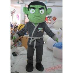 Deluxe Handmade Version Green-Skinned Monster Mascot Costume For Adult