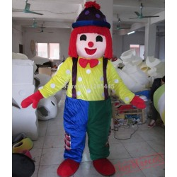 Adult Happy Clown Mascot Costume