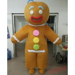 Adult Gingerbread Man Mascot Costume