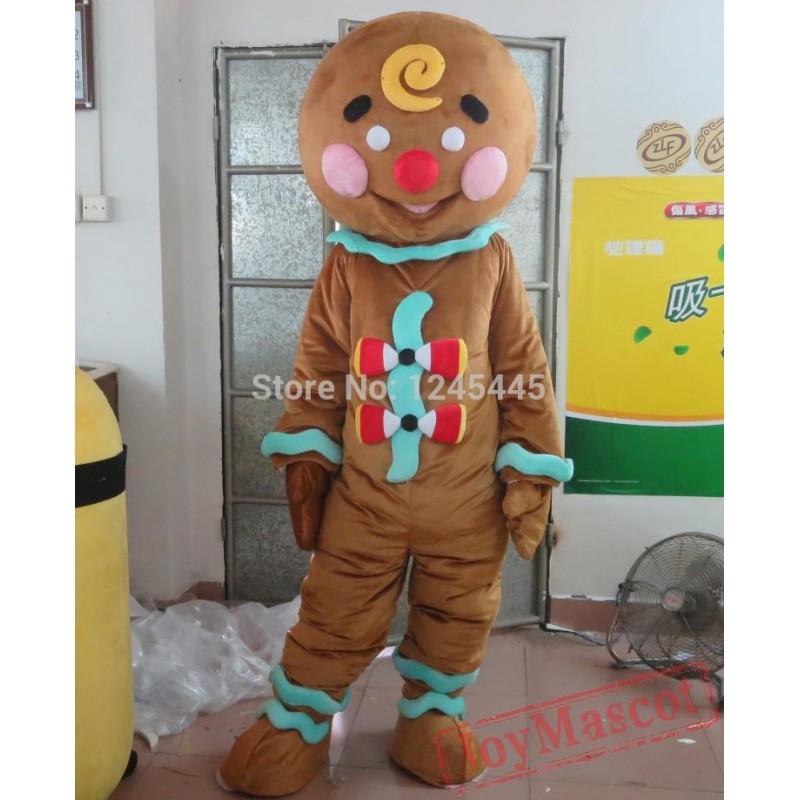 sc 1 st  Joy Mascot Shop & Gingerbread Man Mascot Costume For Adult