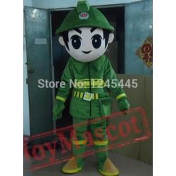 Adult Fireman Mascot Costume