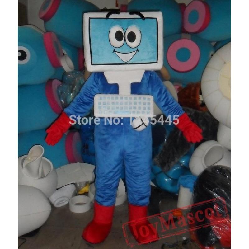 & Adult Computer Mascot Costume