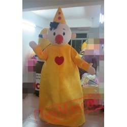 Clown In Yellow Mascot Costume For Adults Clown Mascot