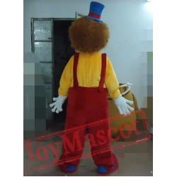 Smiling Clown Mascot Costume Adult Clown Mascot