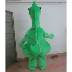 Adult Cool Green Dinosaur Mascot Costume With Sunglassess