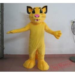 Adult Yellow Little Simba Lion Mascot Costume